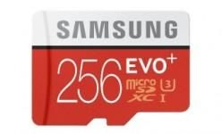 256 GB microSD-la mejor tarjeta de memoria de Samsung